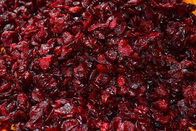 cranberries-séchées-grignotage-sain-idées